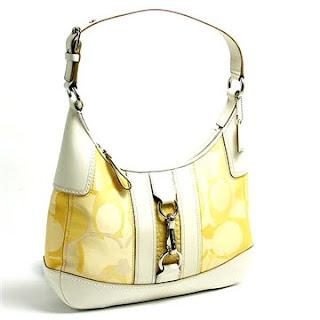 Coach Handbags White Yellow Hampton Optic Signature Stripe Hobo Bag 13336 Efashionhouse