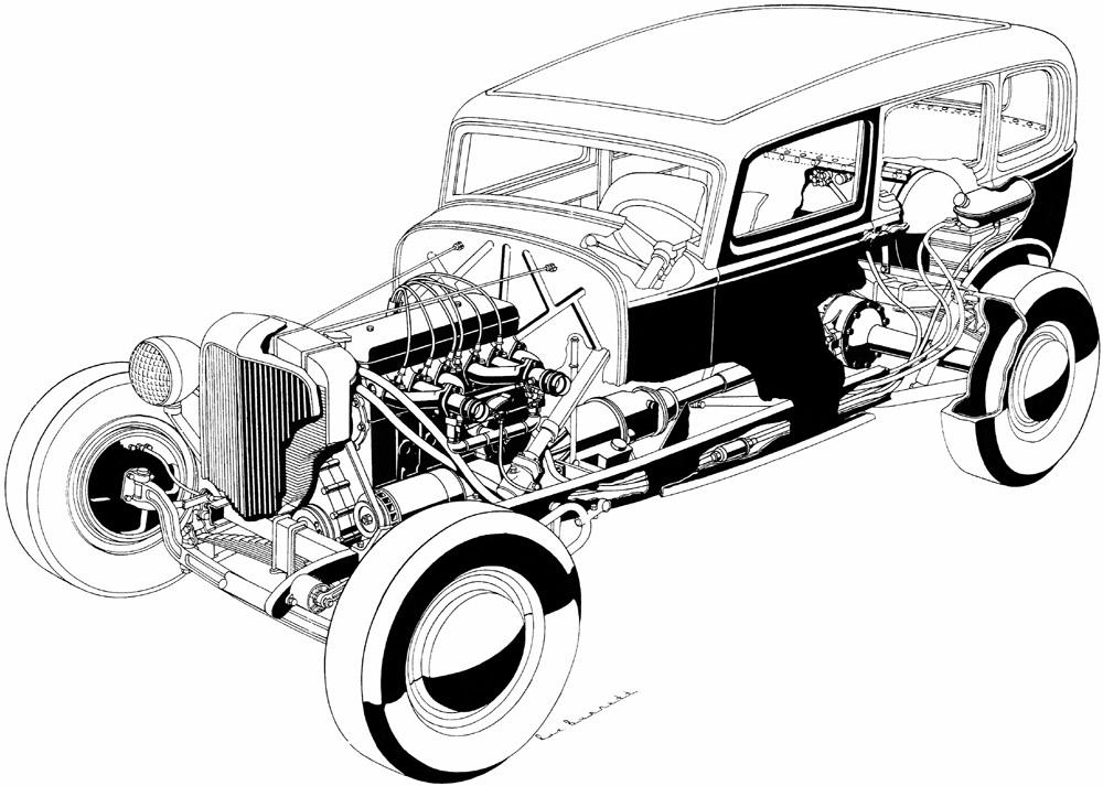 sugarpetite: Rex Burnett, the cutaway drawing king of Hot