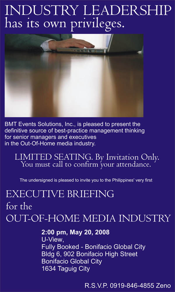 The First Out-Of-Home Media Executive Briefing