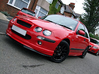 Rover 25 Solar Red Modified
