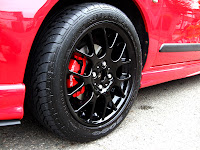 MG Rover 25 Painted Calipers Black Wheels