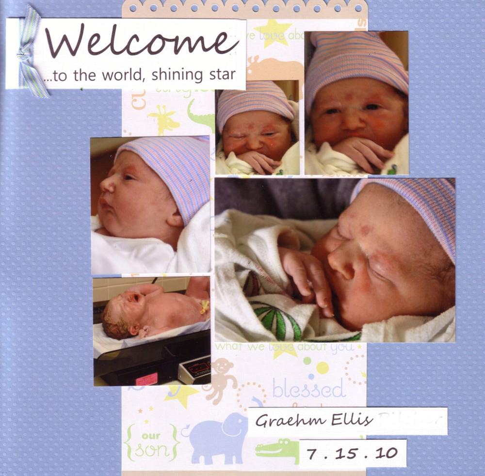 Paper Pals Design Team New Baby Boy Layouts