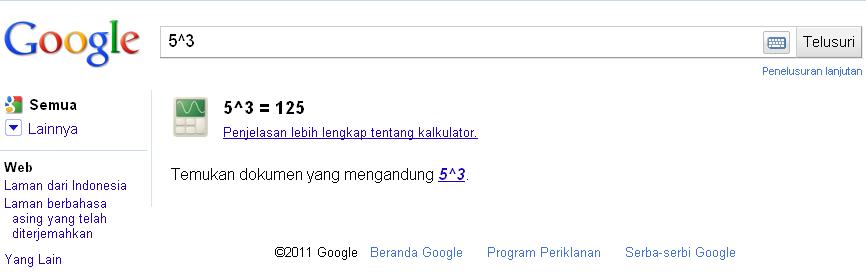 Inilah Contoh Kalkulator Dari Google