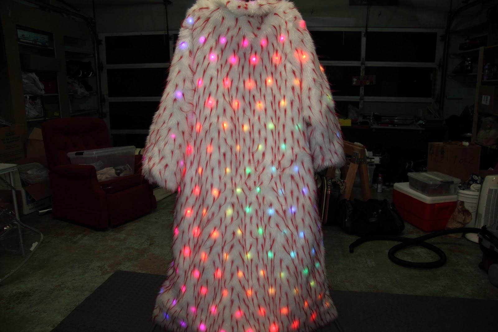 The Amazing Technicolor LED Fur Coat