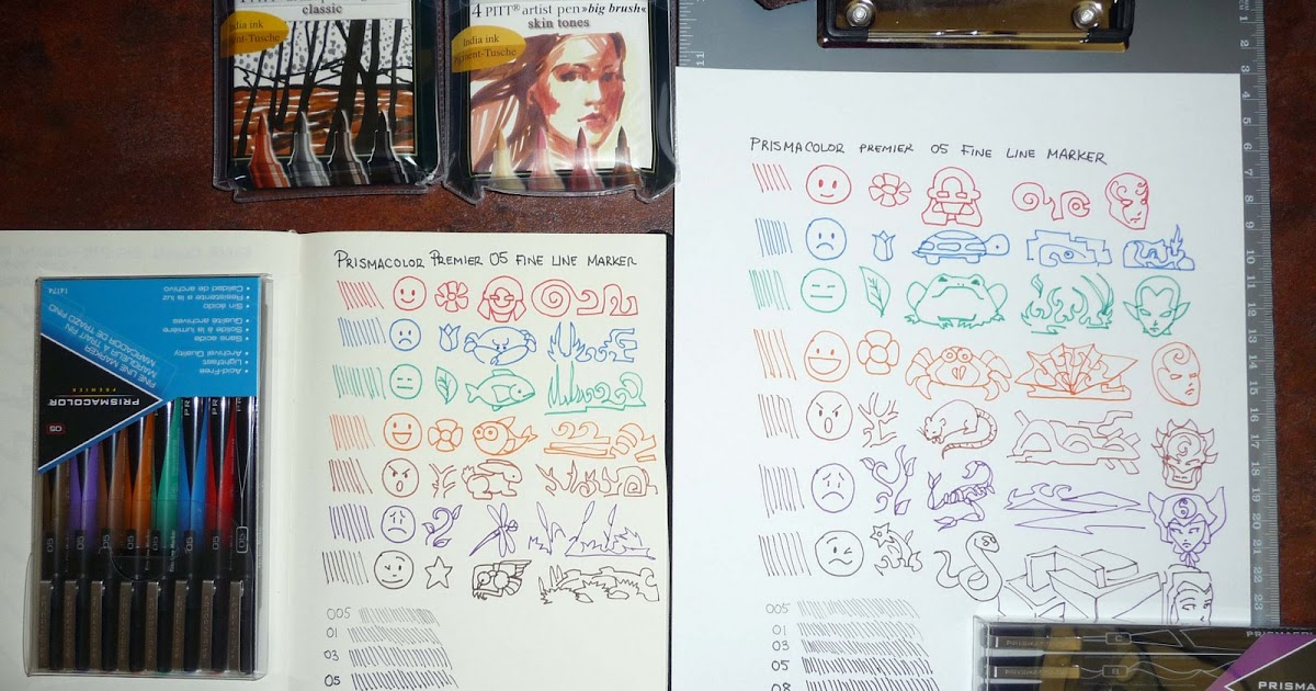 Review Of The Prismacolor Premier Fine Line Archival Marker Sets