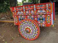 painted ox cart in Sarchi