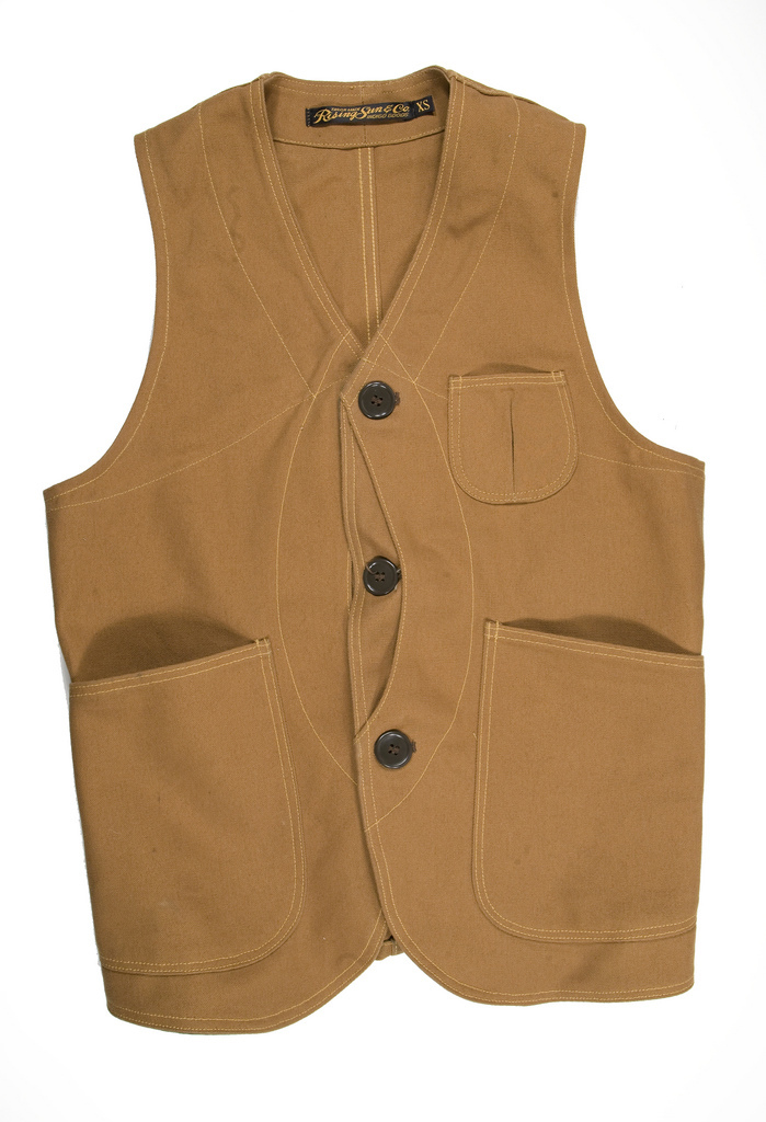 b8e2f6b260e87 Archival Vests: Rising Sun & Co Outdoor Vest