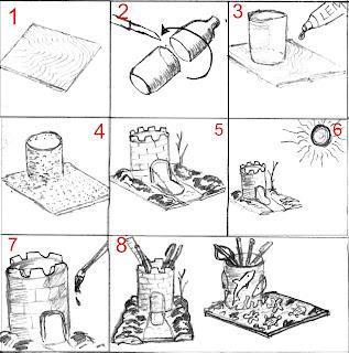cara membuat kerajinan bunga dari bubur kertas