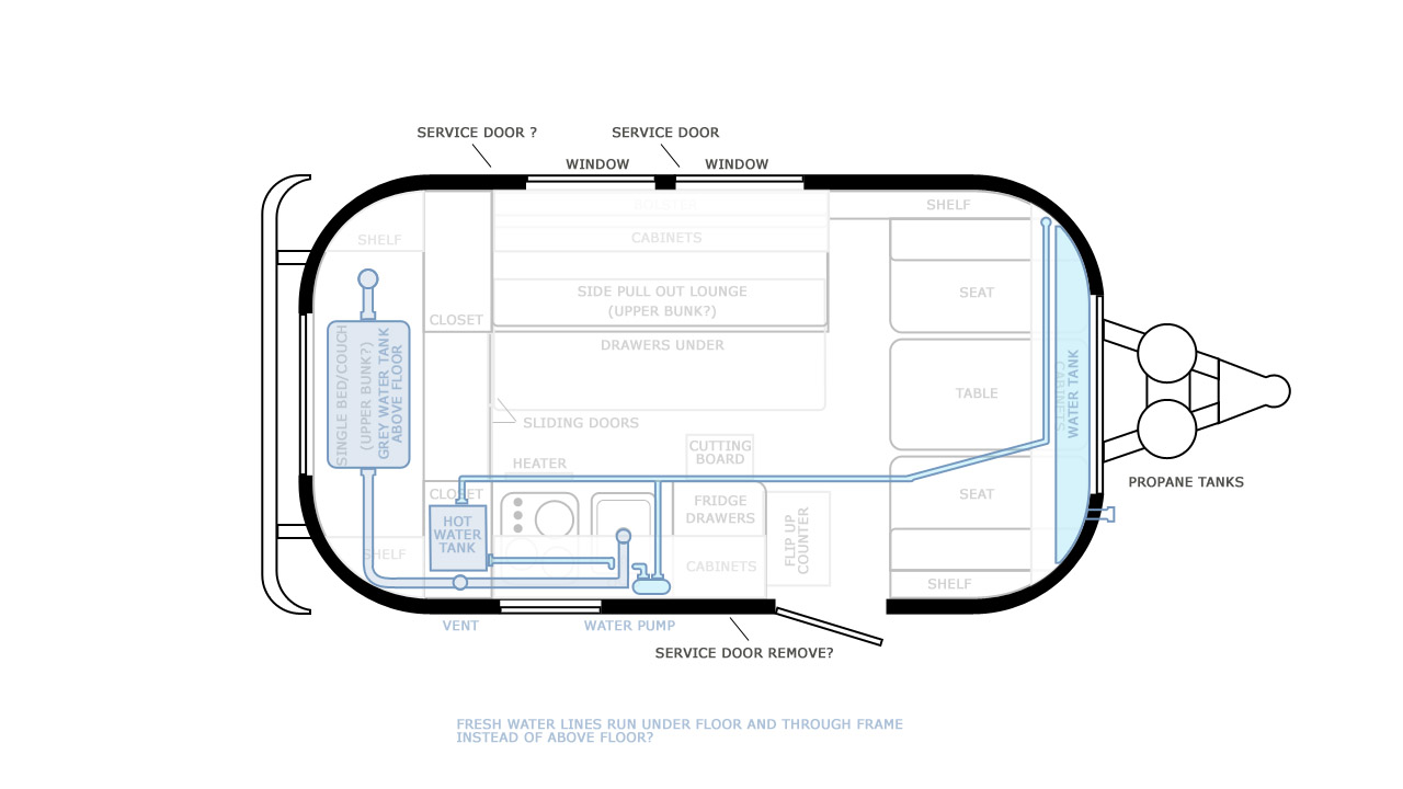 medium resolution of caravel schematics for ac dc electrical plumbing and gas lines airstream 12v wiring diagram