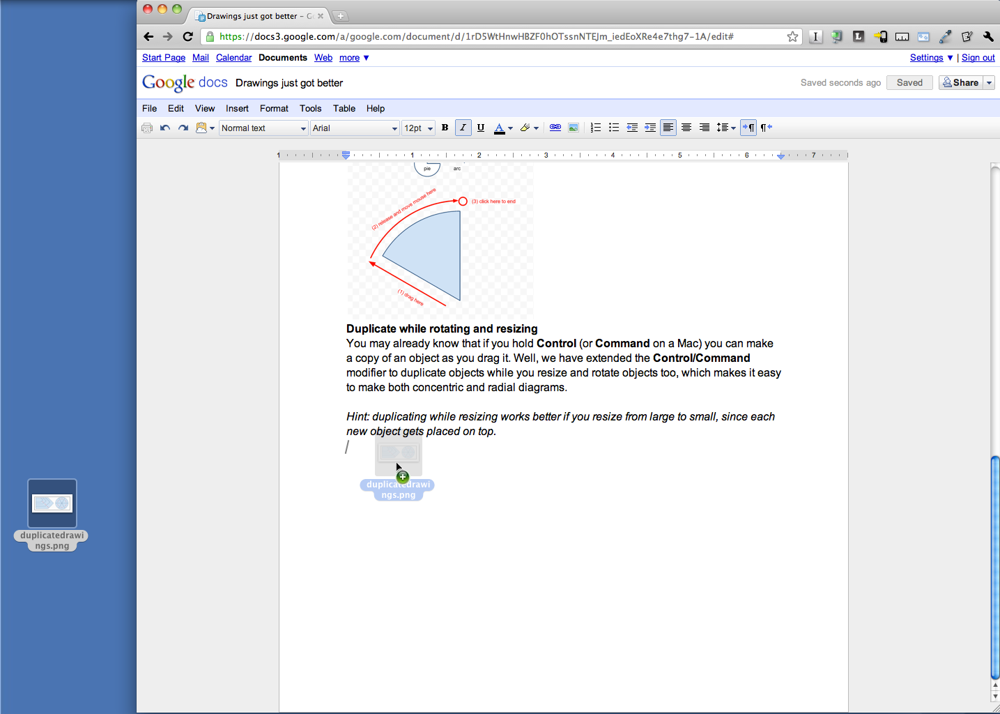 Google Drive Blog: Drag and drop images in documents