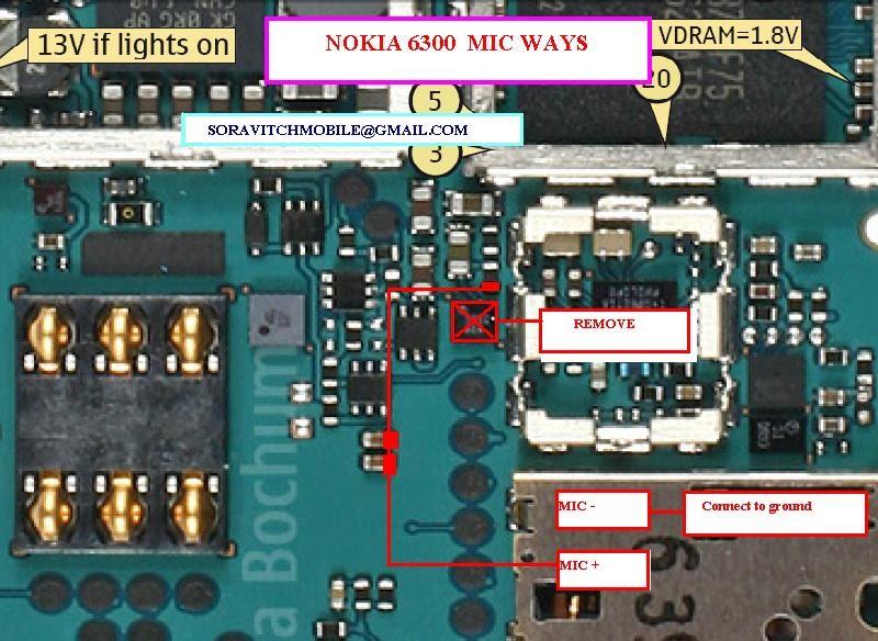 Nokia 6300 Mic Solution | Phone Repairing