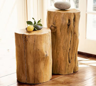 The Red Chair Blog Tree Stump Tables