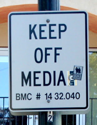 Keep Off Median/Media sign