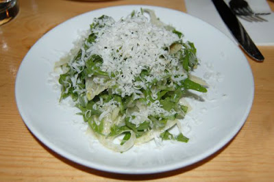 fennel, wild arugala, and parmesan salad