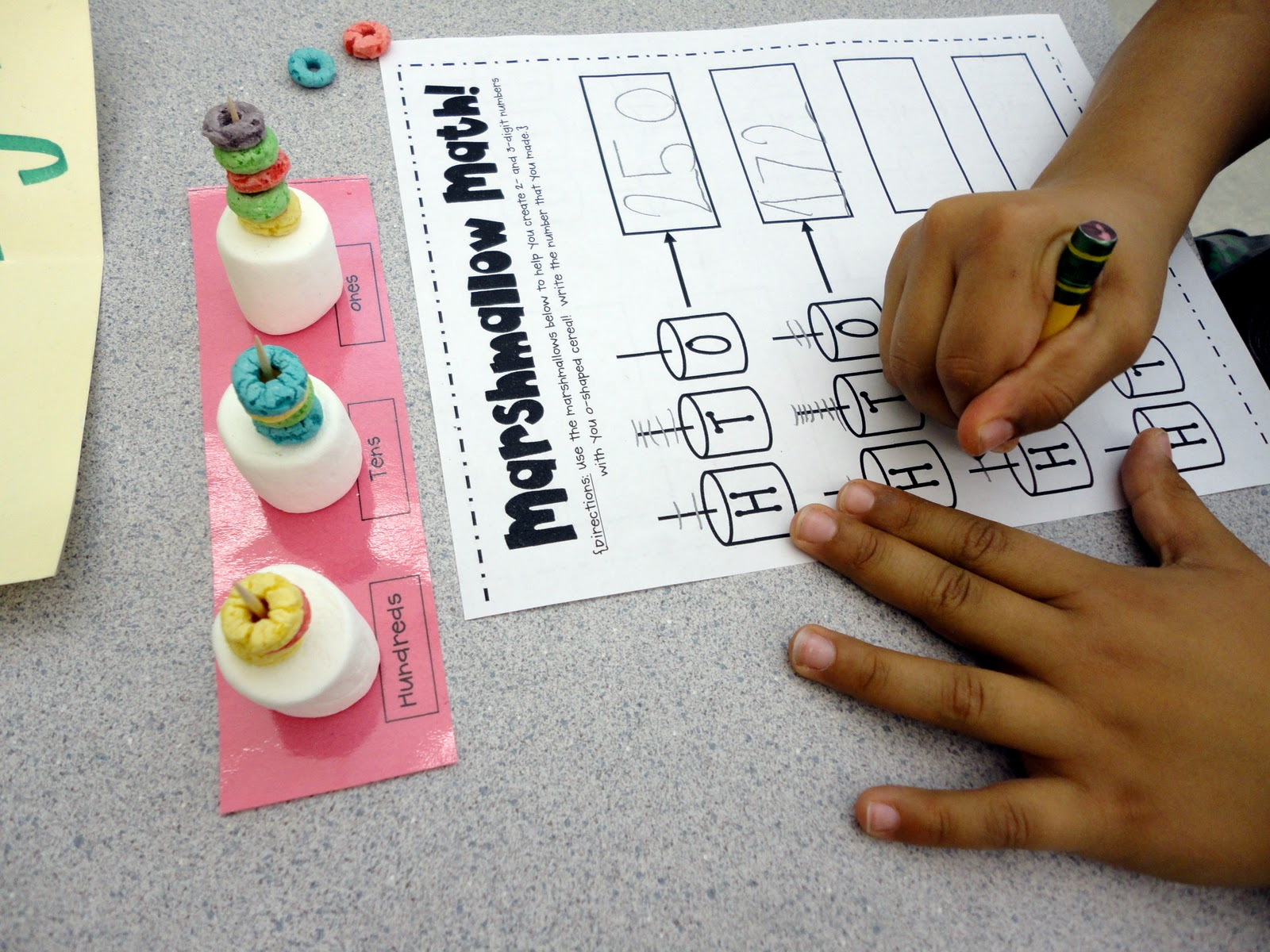 Babbling Abby Monday News Amp Place Value Marshmallow Activity First Grade