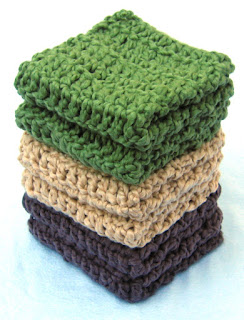 crocheted washcloths