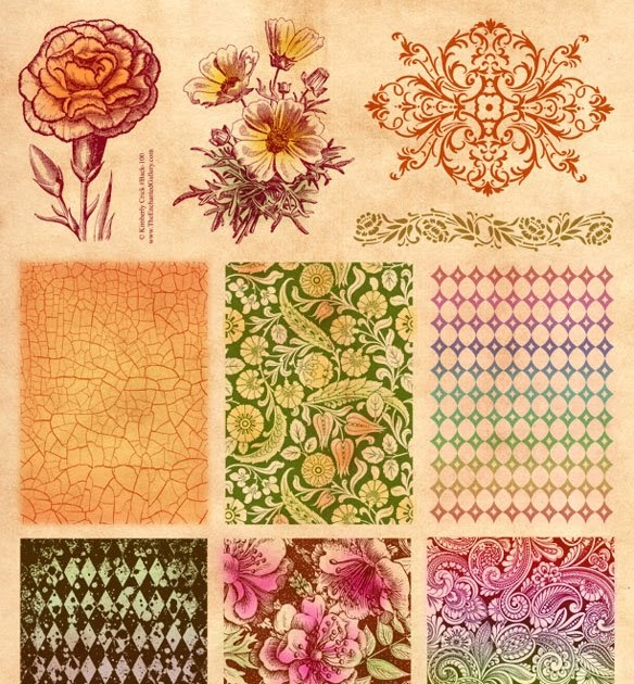 The Enchanted Gallery Rubber Stamp Background Patterns