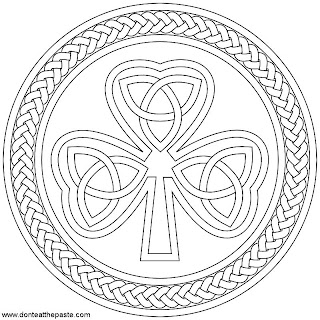 Don't Eat the Paste: Shamrock printable box and coloring page
