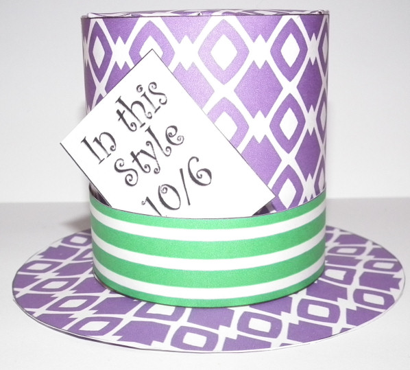 Don\u0027t Eat the Paste Printable mini Mad Hatter top hat with template