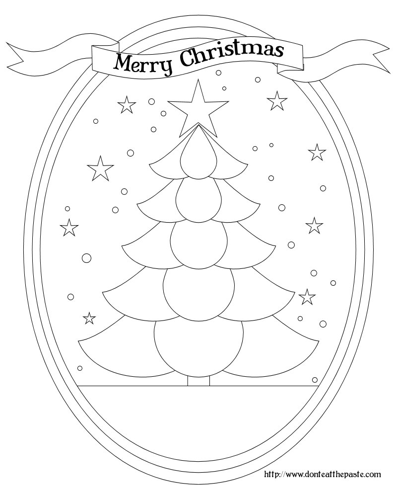 Don't Eat the Paste: Christmas Tree box and coloring page