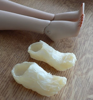 Finished latex moulds of Sybarite's feet