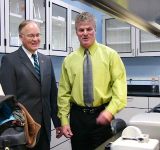 Governor Jim Douglas and Peter Banks