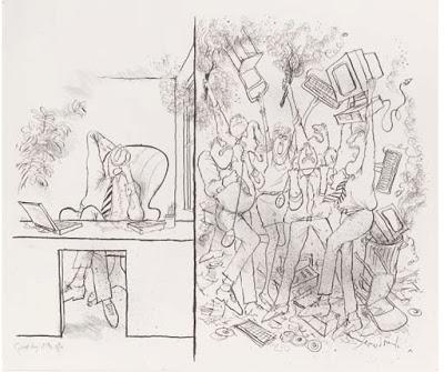 Ronald Searle Tribute: Editorial Illustration