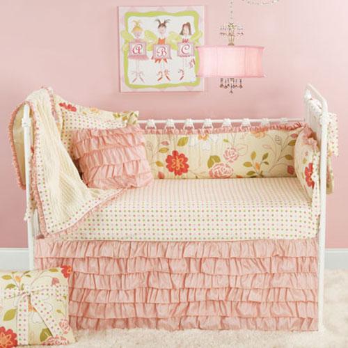 Nursery Notations Pink Amp Green Nursery Bedding