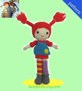 Amigurumi Pippi Yapilisi : Pippi Longstocking - Sayjai Amigurumi Crochet Patterns ~ K ...