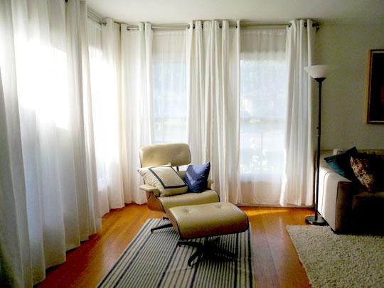 White Living Room Curtains: JPM Design: Ikea White Grommet Drapes