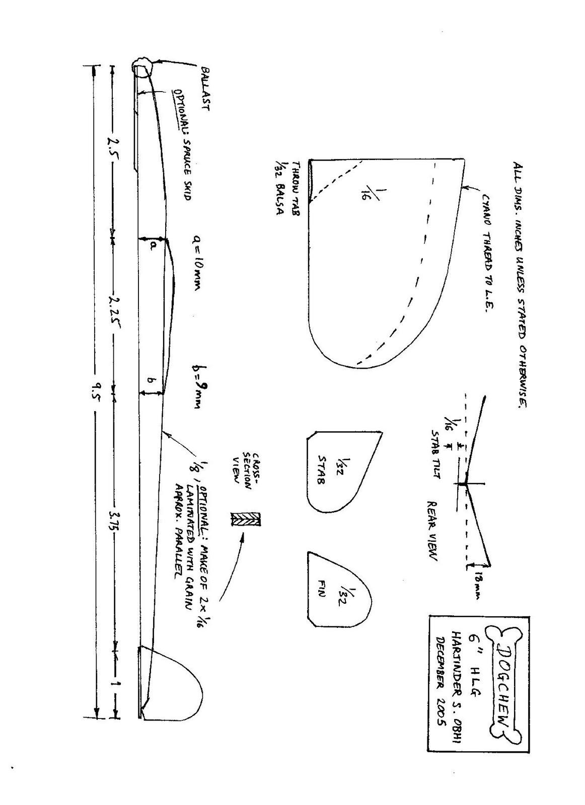 Chuck Glider S Model Aircraft Jotter July