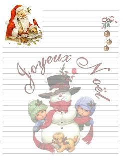 Une Lettre De Pere Noel.La Lettre Au Pere Noel Abcd