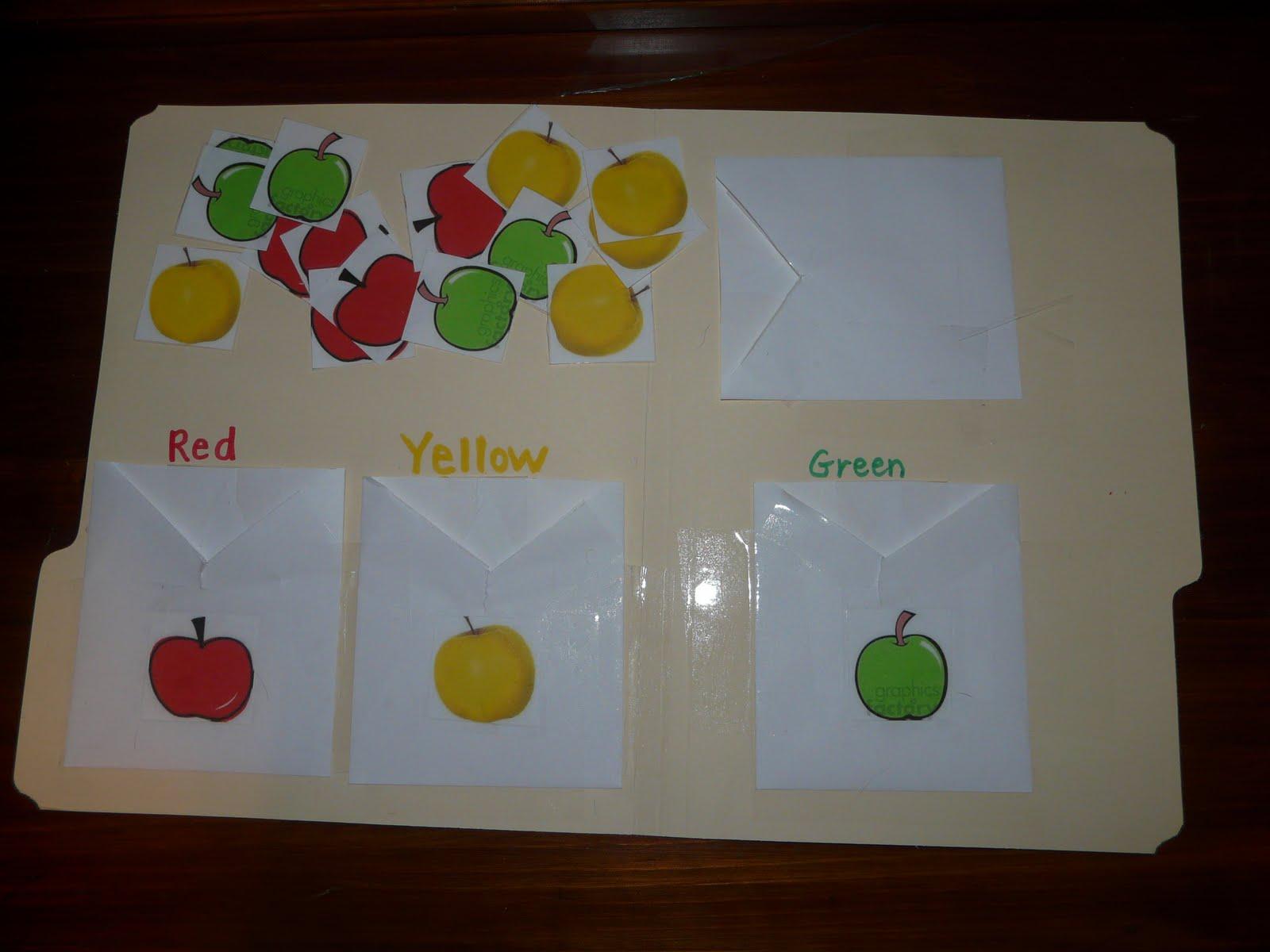 Children S Learning Activities Apple Sort