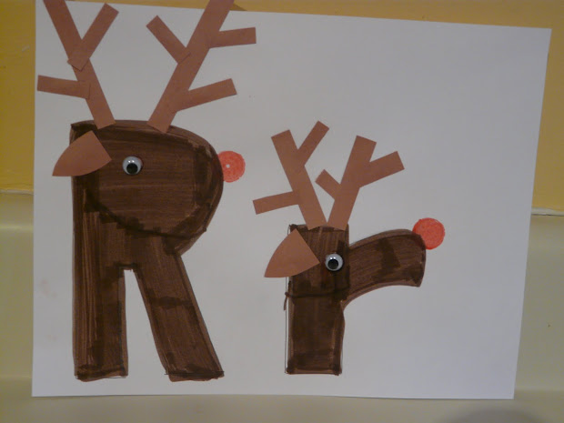 Letter R Reindeer Craft