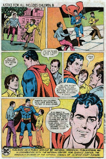 Superman in Justice For All Includes Children 8 public service ad