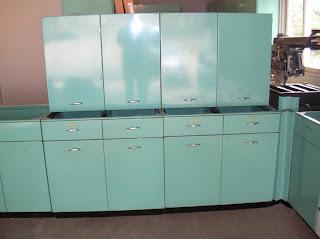 Retro Renovation Sold 1963 Geneva Steel Kitchen Cabinets In Aquamarine