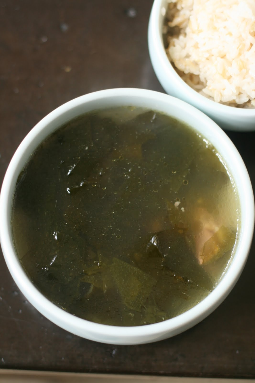 Korean Seaweed Soup 미역국: For the love of my child   Week of Menus