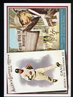 2010 Allen & Ginter This Day in History Robinson Cano/First Parachute Jump