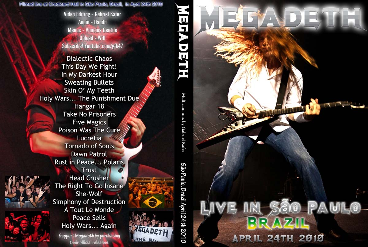 DVD Concert TH Power By Deer 5001  Megadeth - 2010-04-24 - Sao Paulo ... c8cb2431762