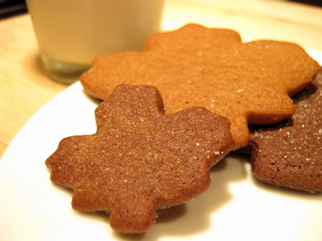 These fall cookies are festive, and great for autumn. The leaf cookies can be made with any gingerbread cookie recipe.