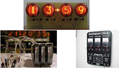 ilginç saatler multimetre nixie saat meter clock