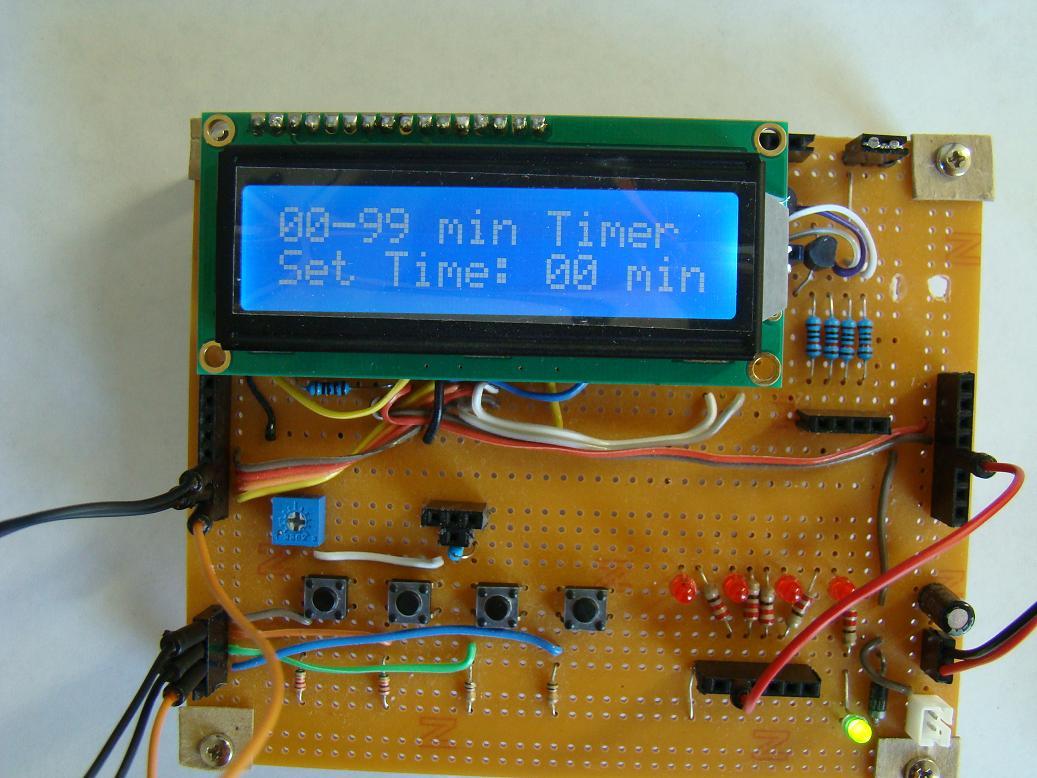 Установка выдержки с помощью переменного резистора.