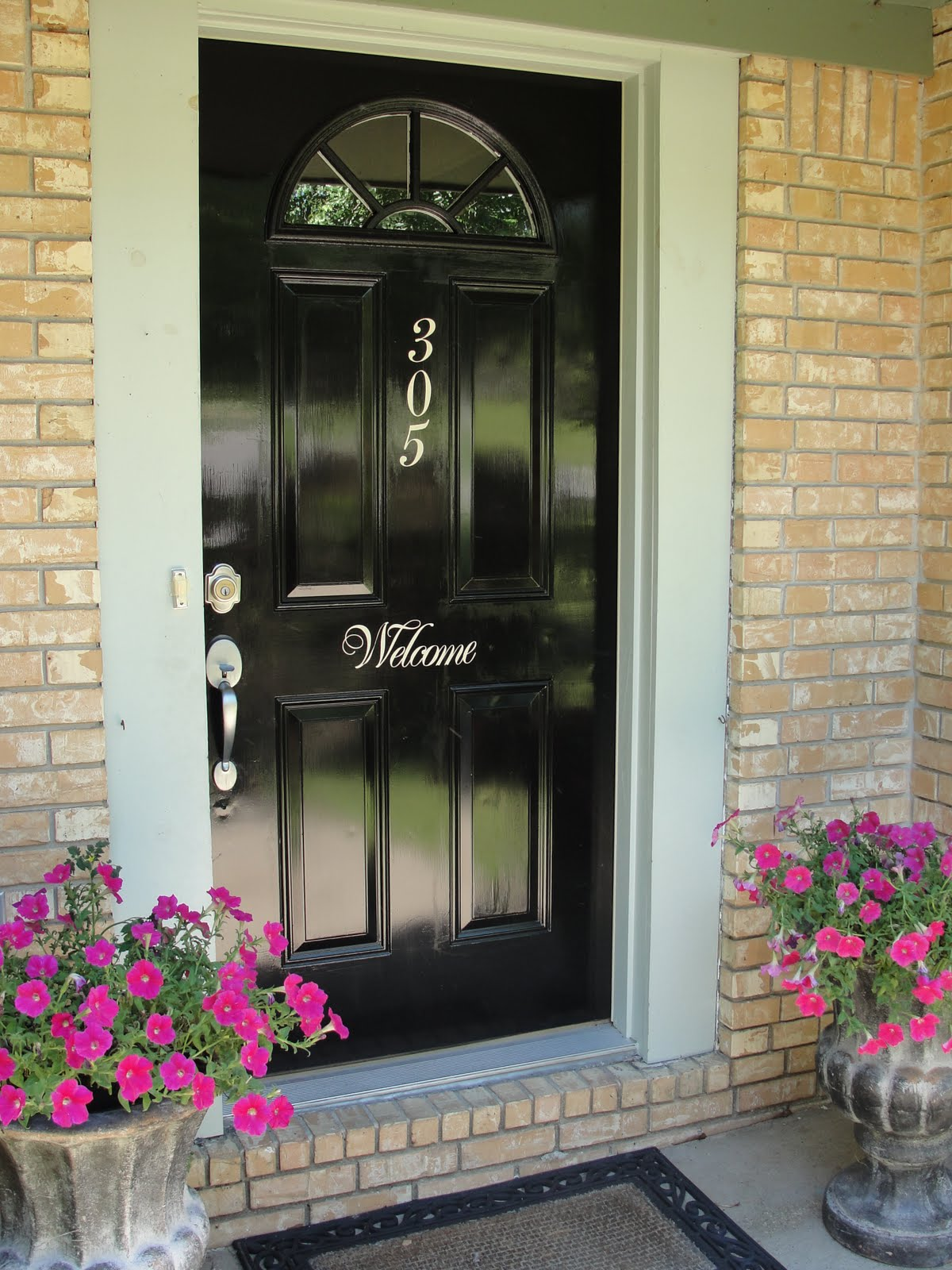 Imperfectly Beautiful: Red to Black Front Door Makeover