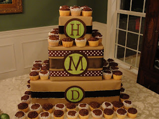 Imperfectly Beautiful Diy Monogrammed Cupcake Tower