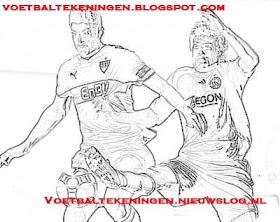 Kleurplaat Ajax Vfb Stuttgart