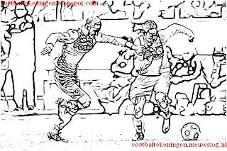 Kleurplaten Voetbal Nec.Kleurplaat Ajax Feyenoord 2 0
