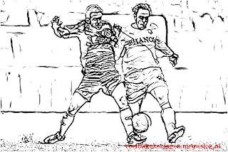 Kleurplaten Voetbal Ajax.Kleurplaat Fc Utrecht Ajax 0 2