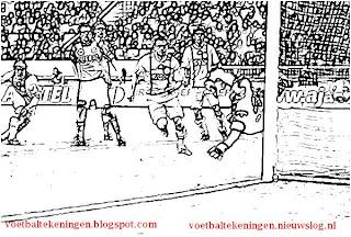 Kleurplaat Ajax Fc Volendam 2 1