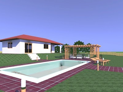 Tus juegos dise o de casa jardin 3d free for Casa 3d gratis