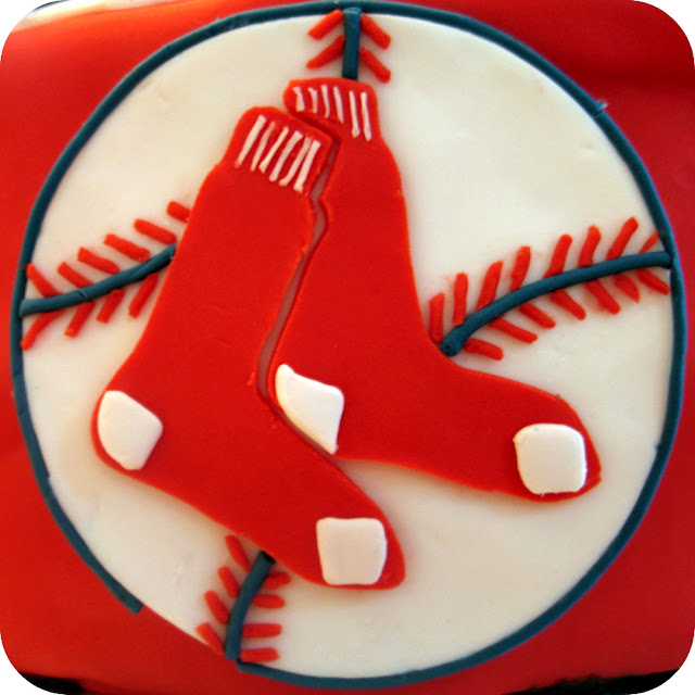 Red Sox Birthday Cake Dozen Flours